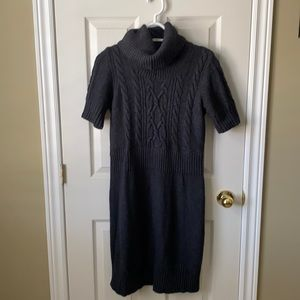 Loft Knit Turtleneck Shortsleeved Dress